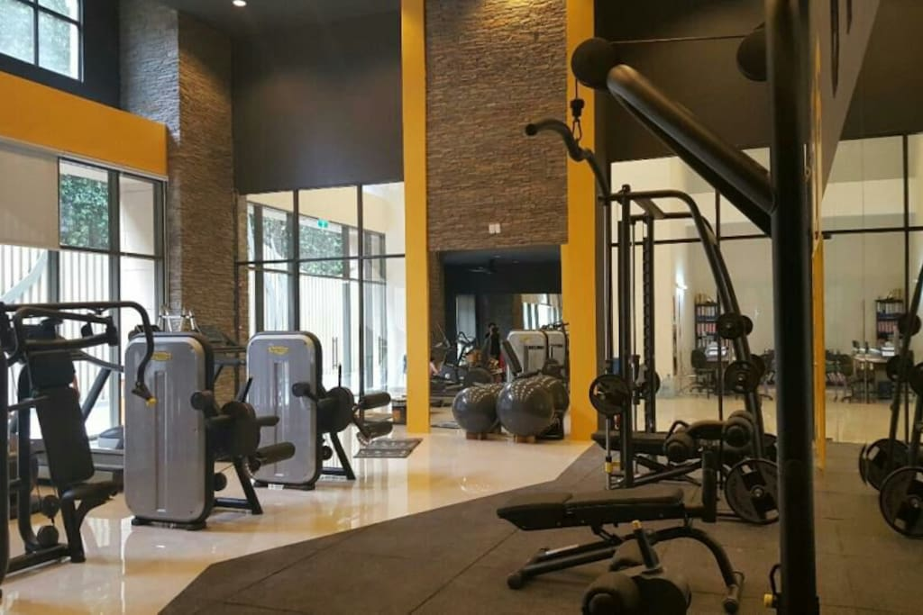 Gym on ground floor with free of charge
