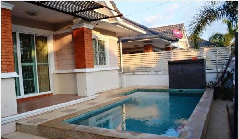 บ้านพัก พร้อมสระว่ายน้ำ ส่วนตัว - ตำบล ป่าแดด - House