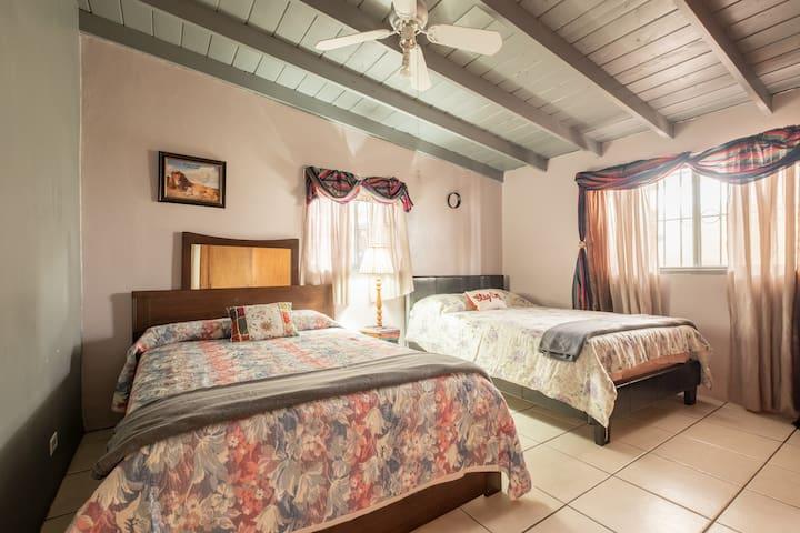Master bedroom 2 full beds