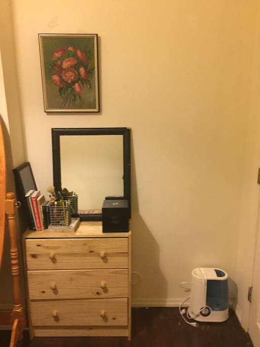Small Dresser & Humidifier