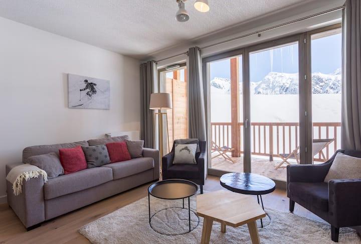 Appartement Lumineux et Modern à La Rosière | Accès Espace Bien-Être