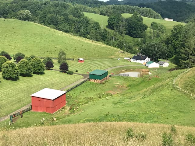 Happy Hollow, 83 acre farm,2 miles to Helton Creek