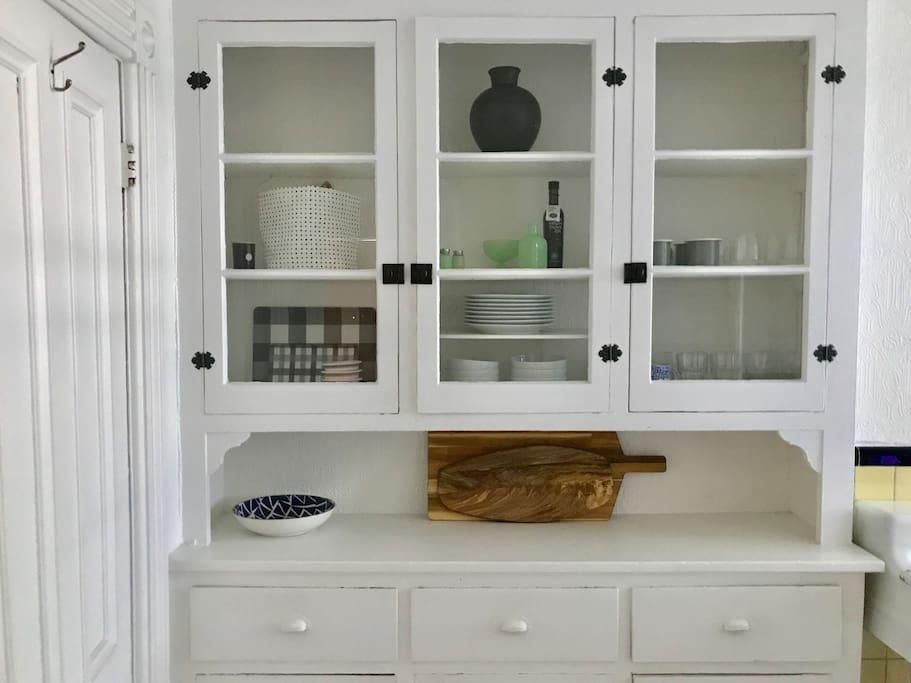 Original built-in cupboards in the kitchen