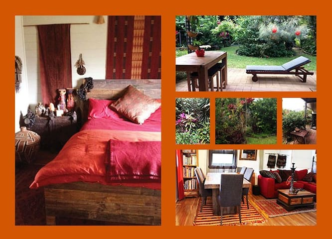 COLOURFUL ROOM IN COTTAGE 22kms South of Cairns - Gordonvale - Rumah
