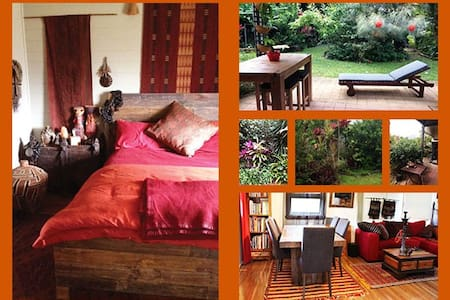 COLOURFUL ROOM IN COTTAGE 22kms South of Cairns - Gordonvale - Hus