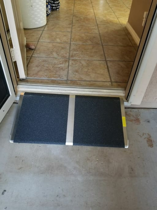 Wheelchair Ramp at Front Door for ease of access.