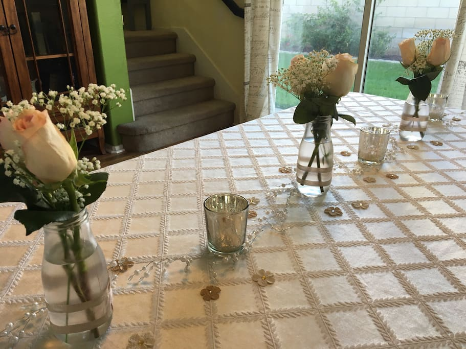 Includes formal table setting