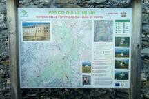 La mappa del Parco delle Mura