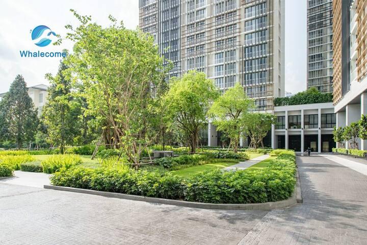 曼谷素坤逸24巷&高端公寓/蓬蓬BTS 5min可达& 顶层泳池/健身房【P6】