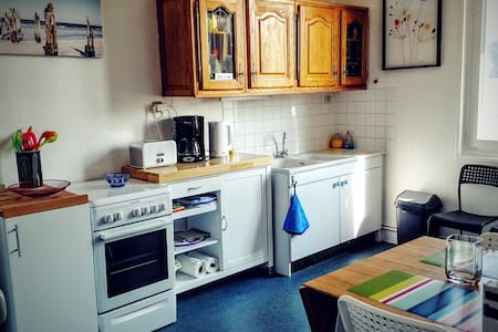 Charming apartment in the city center near the sea - Barneville-Carteret - Lejlighed