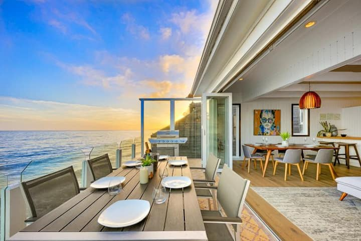 Beautiful Beachfront Home w/ Balcony + Endless Views