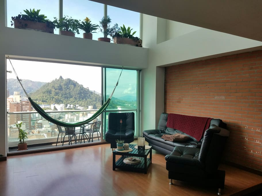 Enjoy the beautiful view of San Cancio Hill. The furniture is comfortable and can fold down into a bed.