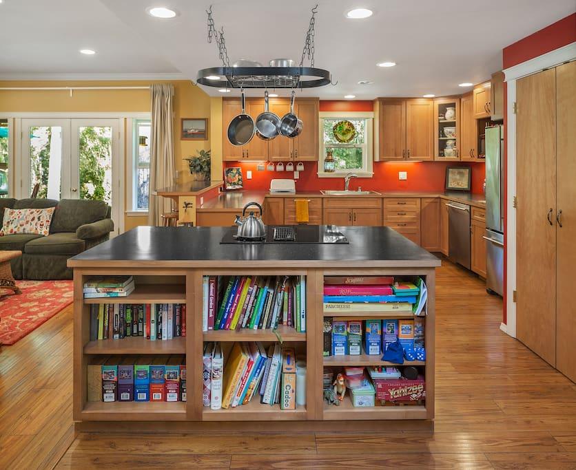 Gourmet kitchen; open floor plan.