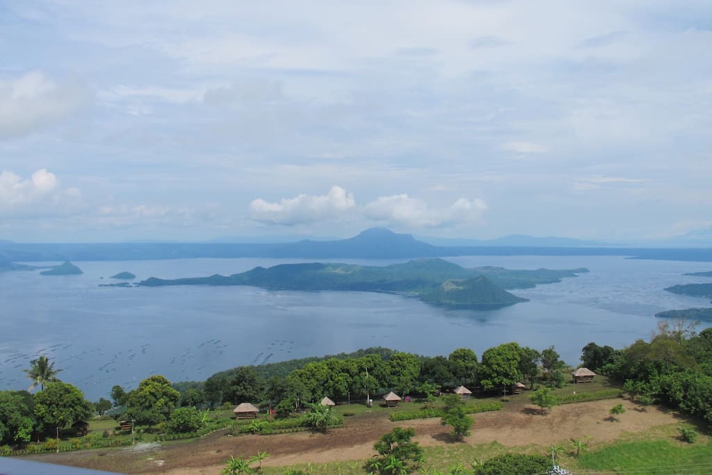 View of Taal Volcano & Lake from the balcony