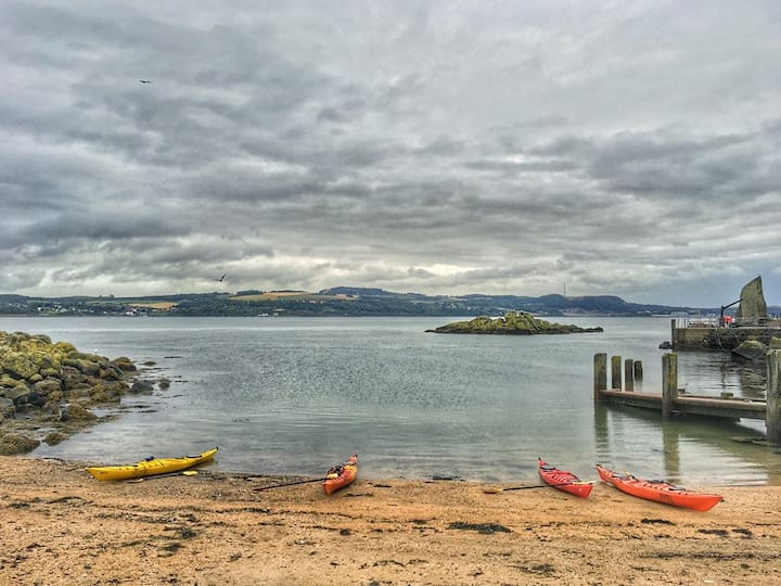 Looking back from Inchcolm Island