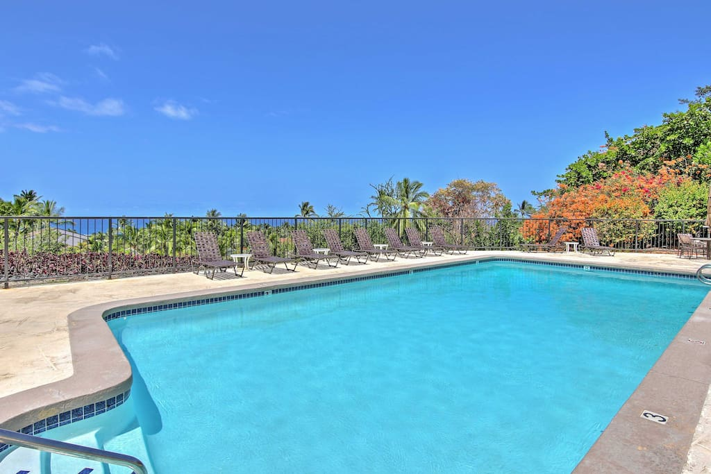 Take advantage of the resort's beautifully landscaped swimming pool.