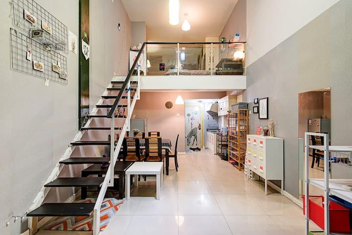 「不远民宿」出门就是春熙路市中心双地铁跃层loft套房