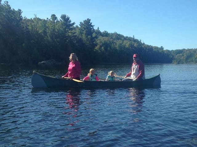 Canoeing on the Lake