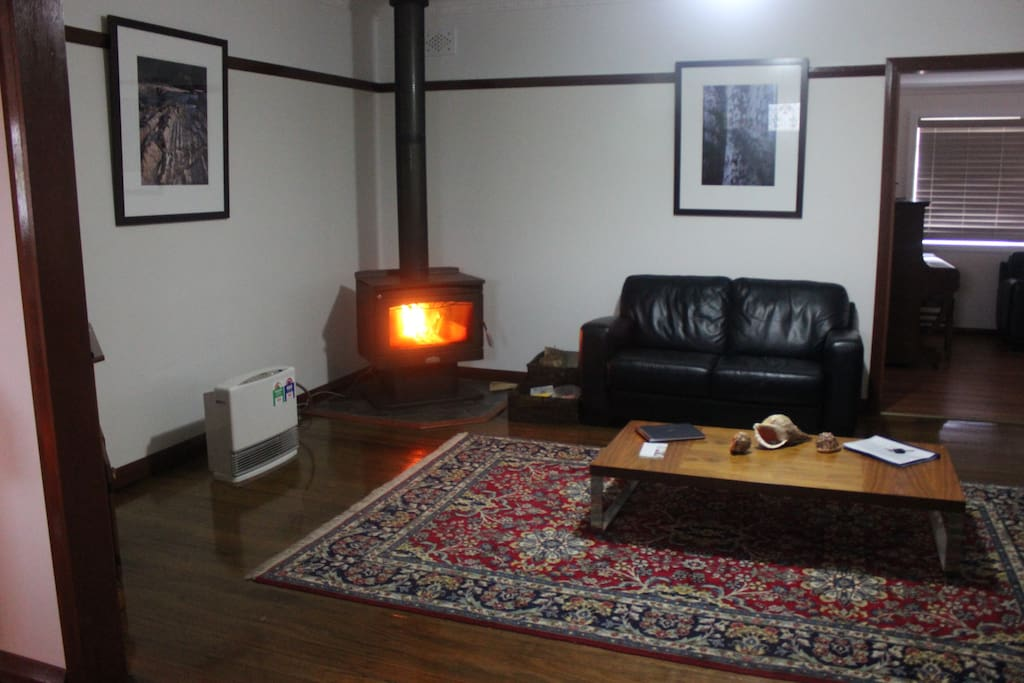 Relax in winter by the cosy fireplace