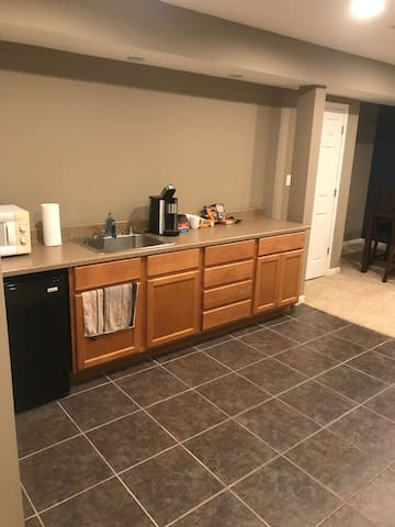 Full private basement with bathroom, and theater!
