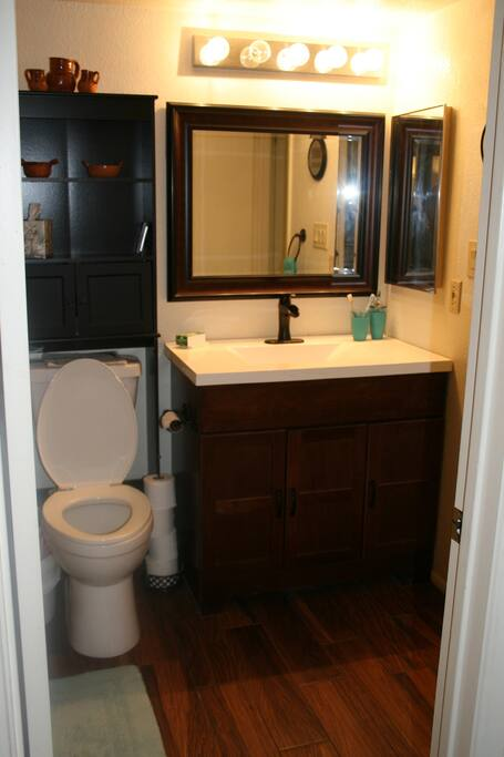 New updated bathroom.