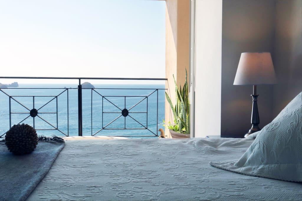 Master bedroom, jacuzzi outside