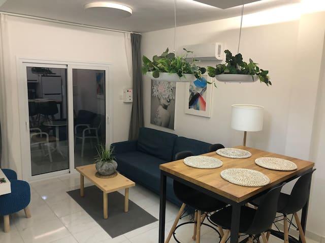 Central Napa modern flat