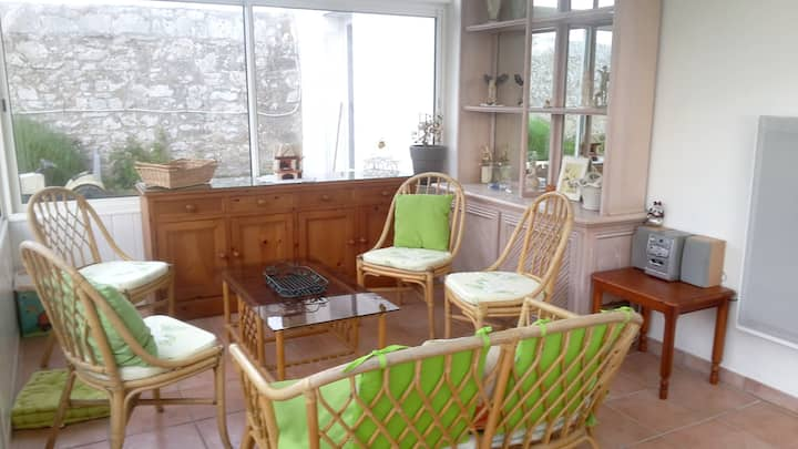 House with 2 bedrooms in Primelin, with enclosed garden and WiFi - 800 m from the beach