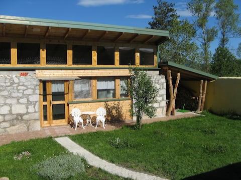 Charming wood/stone house