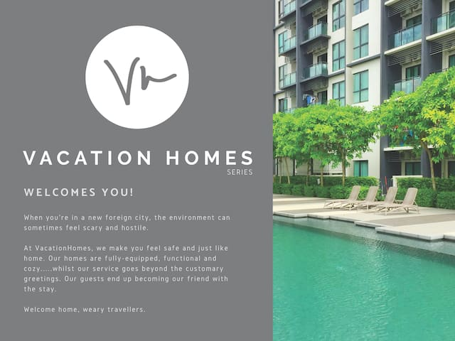 VH2 VacationHomes@Residency V ModernCozy/Free Wifi