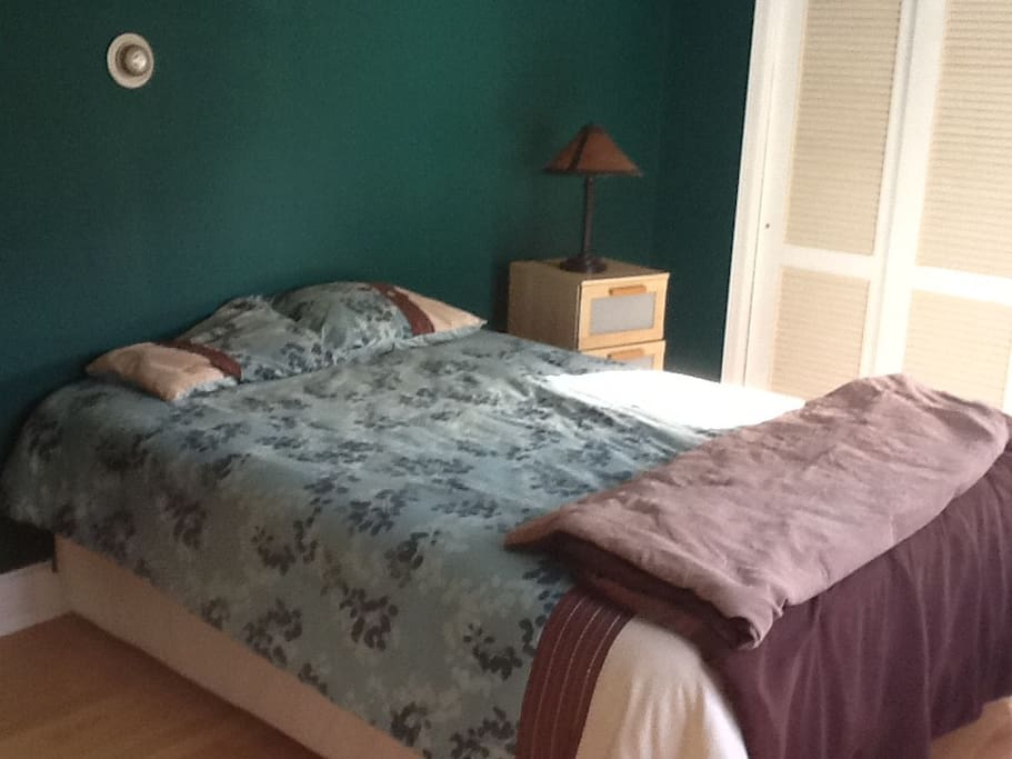 Nice Queen-sized bed, plenty of closet & drawer space