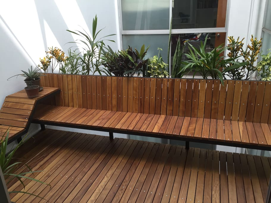 Our terrace, where you can chill out and relax!