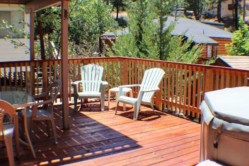 Back deck with spa