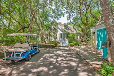 Perfect BHI forest home, minutes to beach on foot