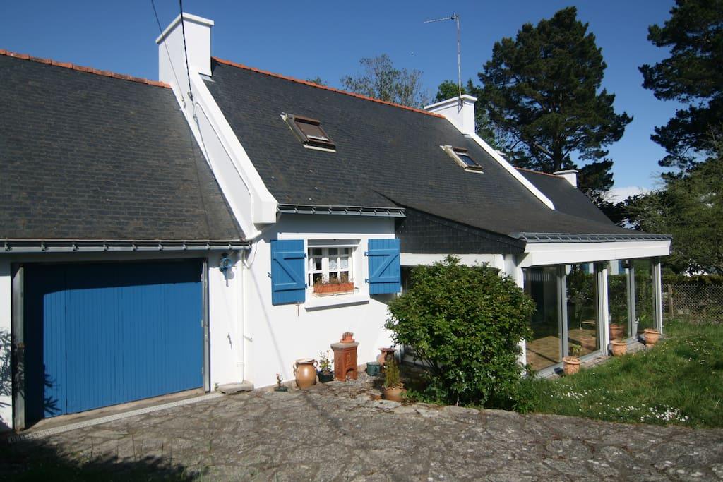 La maison avec véranda vue mer