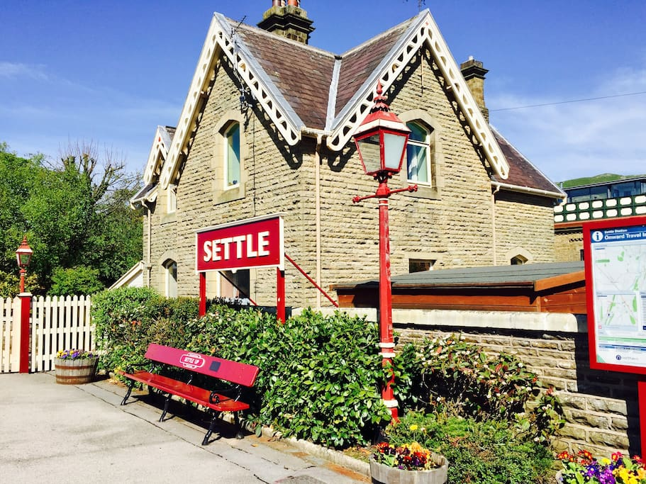 The beautiful Settle station, famous for the Settle-Carlisle railway line. The station is just a 5 minute walk from the cottage