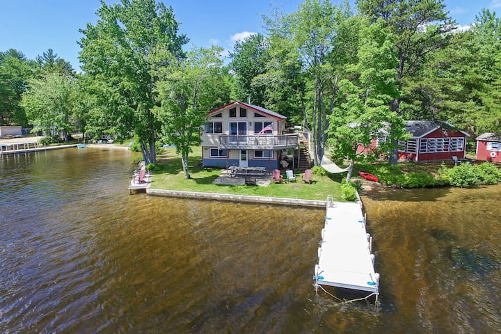 Year Round Lakefront House on Pine River Pond!