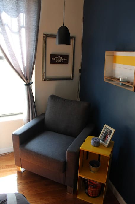 Private Bedroom Reading Nook