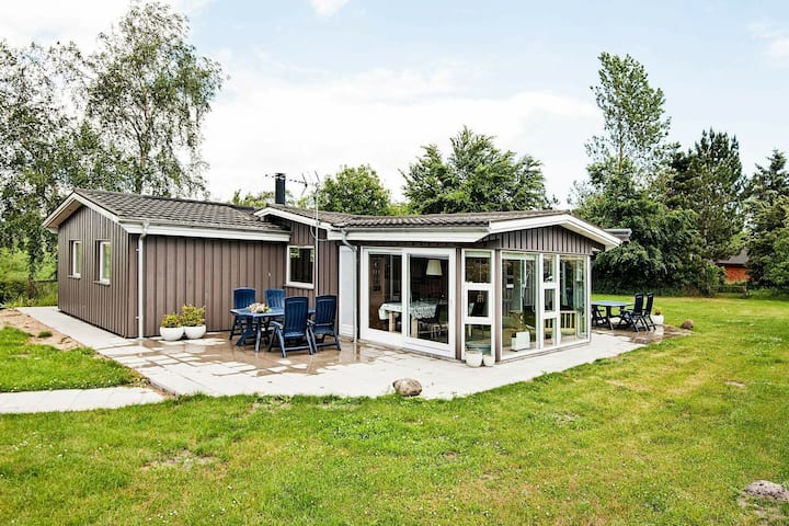Quaint Holiday Home in Knebel with Sauna