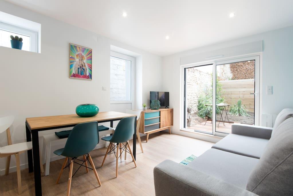 maison avec jardin la rochelle maison 6 pers maisons louer la rochelle nouvelle. Black Bedroom Furniture Sets. Home Design Ideas