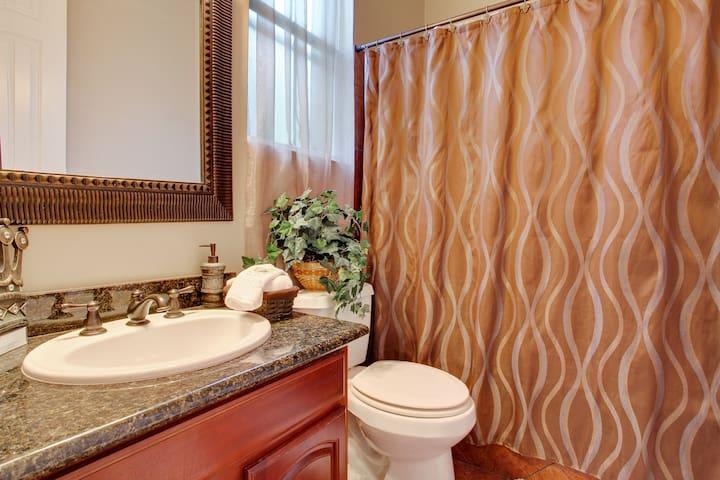 Master bathroom in room