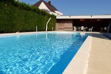 Strasbourg 15min appartment 1bed+carpark+spa+pool - Hœrdt - アパート