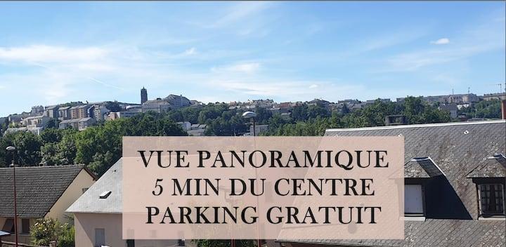 Vue panoramique sur Rodez ☆ T2 spacieux ☆ Terrasse