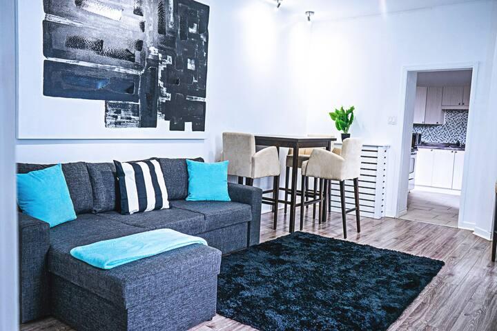 Old-Quebec, cozy apartment, luminous