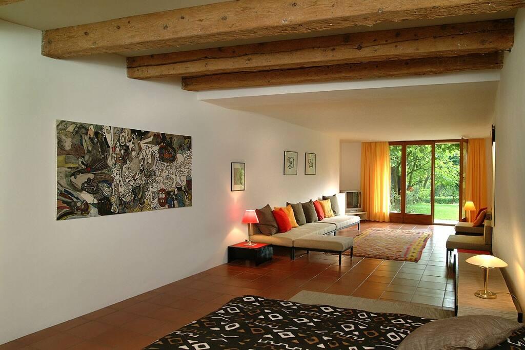Appartement: La Galerie; accès au jardin