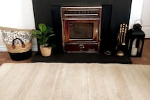 Fireplace with turf burner