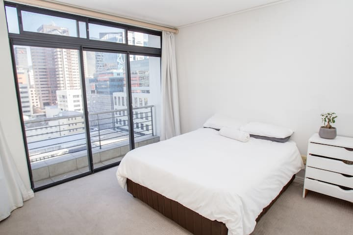 Private bedroom in central apartment