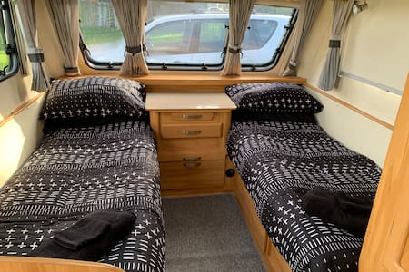 Farm stay caravan accomodation