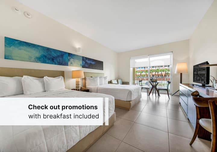 Perfect for a Getaway on the Beach  Two Double Beds + Early Check In + Spa Credit $30.00 USD January - February 2021