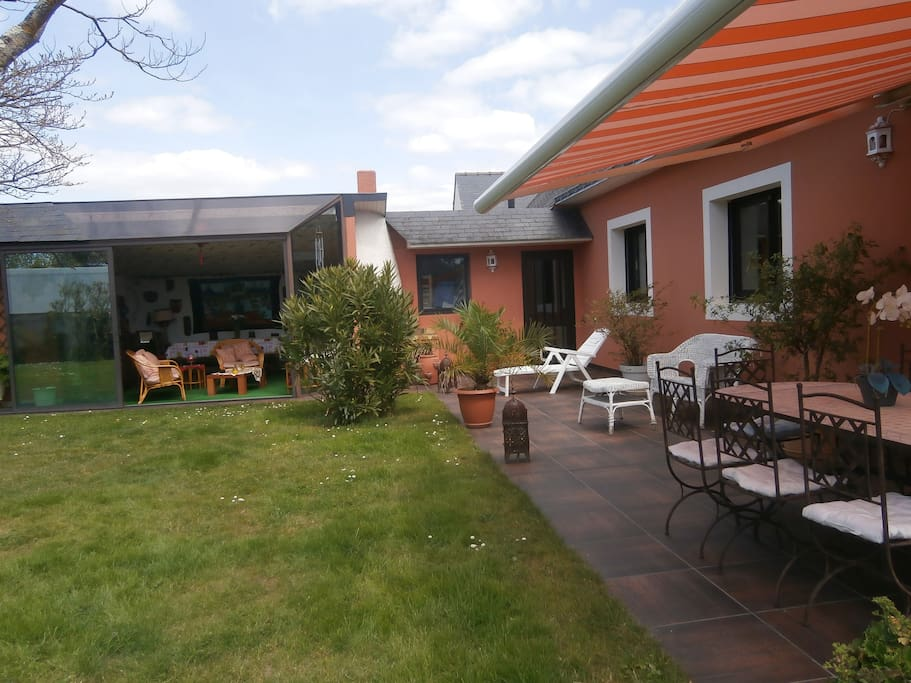 terrasse et véranda d'été